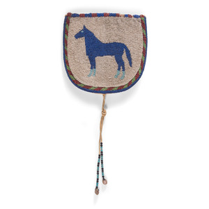 Plateau Pictorial Belt Pouch, with Standing Horse