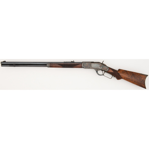 A Fine Deluxe Case Colored Winchester Model 1873 Sporting Rifle