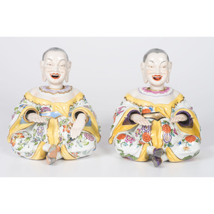 A Pair of Porcelain Chinese Nodders