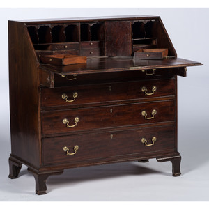 An American Mahogany Slant Top Desk