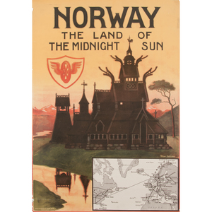 Thorolf Holmboe (Norwegian, 1866-1935) Norway The Land of the Midnight Sun