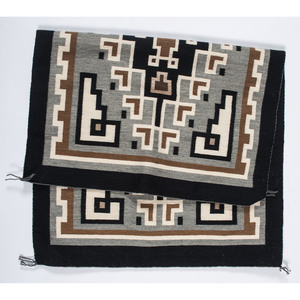 Master Weaver Lynette Nez (Dine, 20th century) Two Grey Hills Weaving / Rug, From the John Andrews Collection, Native Jackets