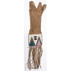 Blackfoot Beaded Hide Tobacco Bag