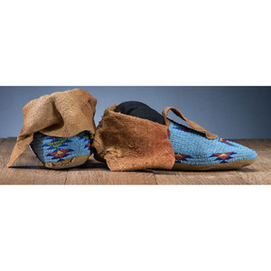 Nez Perce Beaded Hide Moccasins, From the Stanley B. Slocum Collection, Minnesota