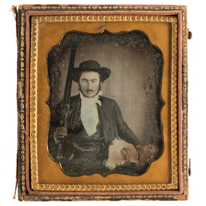 Sixth Plate Daguerreotype of Armed Man, Possibly Californio