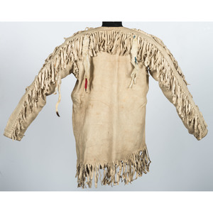 Nez Perce Hide Shirt, Leggings, and Crow Vest, From the Stanley B. Slocum Collection, Minnesota
