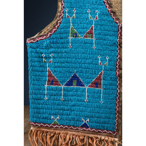 Sioux Beaded Hide Vest, From the Stanley B. Slocum Collection, Minnesota