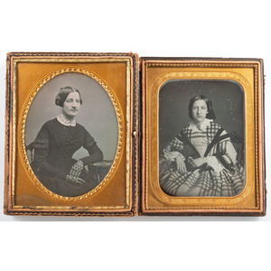 Whole and Half Plate Daguerreotypes of Women at Different Stages of Life