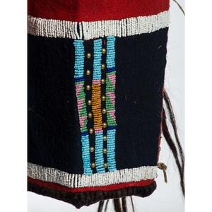 Blackfeet Beaded Wool Shirt and Leggings, From the Stanley B. Slocum Collection, Minnesota