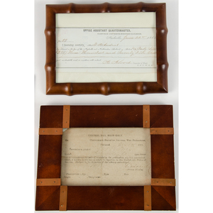United States Military and the Railroad, Collection Incl. Civil War Documents, Badges, Ribbon, and More