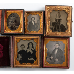 Sixth and Ninth Plate Daguerreotypes, Ambrotypes, and Tintypes of People with Musical Instruments