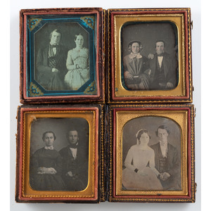Assorted Daguerreotypes of Arresting Couples, Lot of Eight