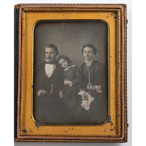 Unusually Composed and Affectionate Family Daguerreotypes