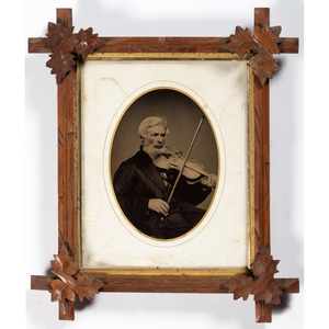 Whole Plate Tintype of a Violinist