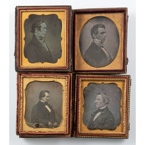 Daguerreotypes of Stately Gentlemen in Profile