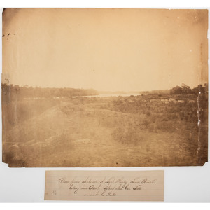 Civil War Large Format Photographs of Forts Henry and Pickering, Tennessee, and Redoubt Dutton and Fort Brady, Virginia