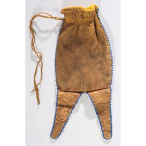 Osage Deer Hide Paint Bag