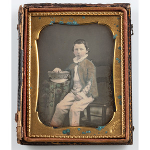 Fine Quarter Plate Daguerreotype of a Young Mardi Gras Page by Jacobs of New Orleans