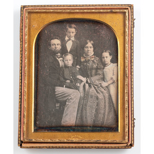 Daguerreotypes of Fathers with Their Children, Four Portraits by Jacobs of New Orleans