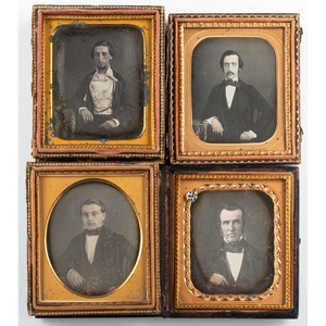 Southern Comfort, Fourteen Daguerreotypes of Dapper Gentlemen from the South, Incl. a Creole from New Orleans
