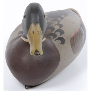 A Painted Mallard Decoy