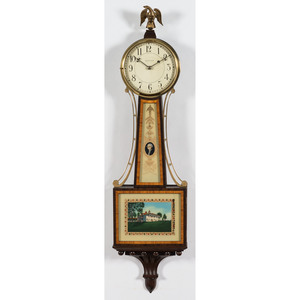 Two Waltham Mount Vernon Banjo Clocks