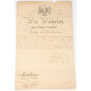King George III Signed Military Document, Plus