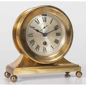 A Spaulding and Co. Brass Ships Bell Clock