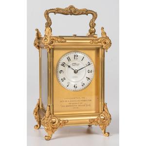 An English Presentation Carriage Clock