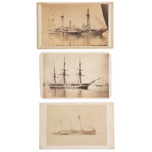 Three CDVs of Warships, Incl. USS Mississippi