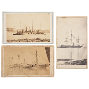 Three CDVs of Brown Water Navy Warships, USS Benton, Mississippi, and Richmond