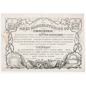 Ames Sword Manufacturing CDVs and Advertising Card