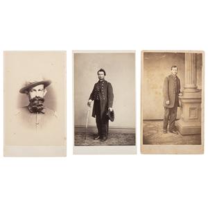Trio of Pennsylvania Civil War CDVs, Including General Francis Patterson