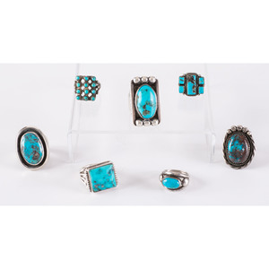 Navajo and Zuni Silver and Turquoise Rings
