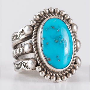 Navajo Ithaca Peak Turquoise and Silver Ring
