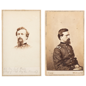 Medal of Honor Recipient Brigadier General Alexander Webb, Pair of Fine CDV Portraits by Brady and Gardner