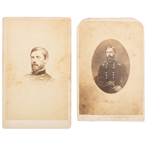 Two CDVs of Union General John F. Reynolds