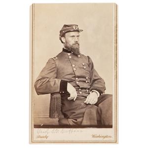 Signed CDV of Brigadier General Simon G. Griffin by Brady