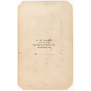 Signed CDV of Brigadier General James Nagle
