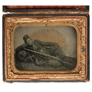 Quarter Plate Ambrotype of Private John Fehr, 77th Pennsylvania Volunteers