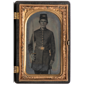 Tintype of Sergeant Jacob Darst, Color Bearer for the 80th Ohio Volunteers