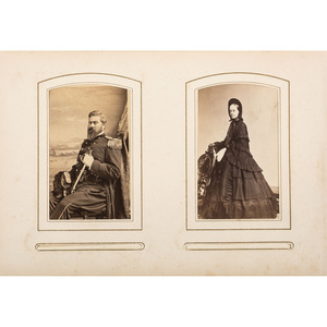 Civil War CDV Album Containing Portraits of Union Generals, Politicians, and Other Personalities Paired with Their Wives