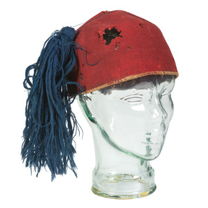 Civil War Era Zouave-Style Fez with Blue Tassel