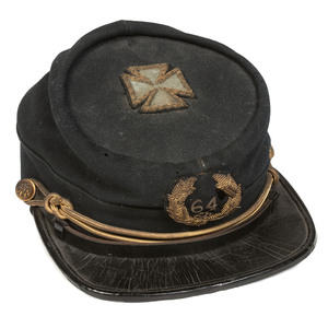 GAR Kepi Post 64 Cap with Fifth Corps Badge Sewn on Top, J.H. Wilson of Philadelphia, Pennsylvania