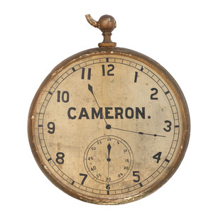 A Painted Wood & Metal Pocket Watch Trade Sign