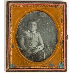 Sixth Plate Daguerreotype of a Young African American Boy
