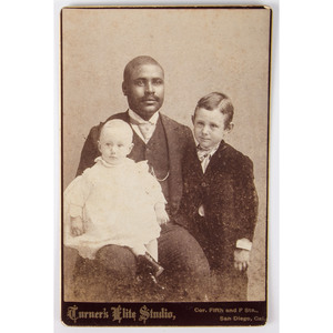 Trio of Cabinet Cards of African American Servants with White Children, Ca 1890s