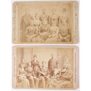 University Singers of New Orleans, Pair of Cabinet Cards