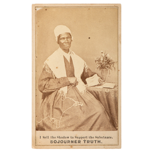Sojourner Truth with Flowers CDV