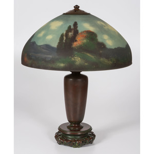 A Handel Reverse-Painted Table Lamp